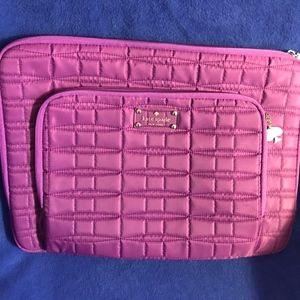Kate Spade Purple Quilted Laptop Case